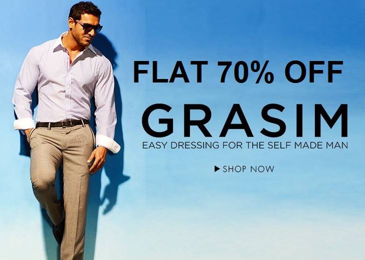 Steal Deal:- Grasim Men's Casual Shirts @ FLAT 70% off, Starts @ Rs 358 + Free Shipping low price