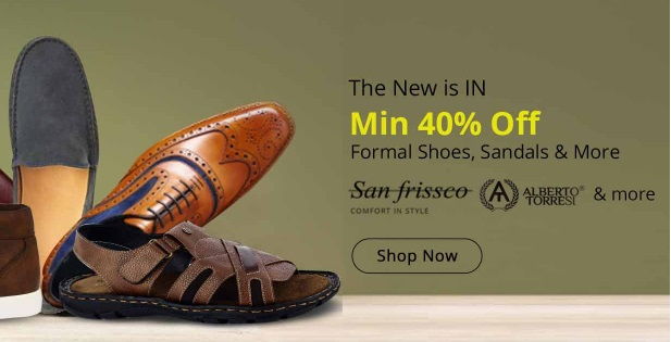 STEAL DEAL : Minimum 40% – 80% Off on Branded Men's Shoes From Rs. 505 + FREE Shipping discount deal