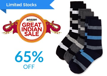 Big LOOT : Symbol Men Socks Flat 65% Off From Rs.139 + FREE Shipping low price