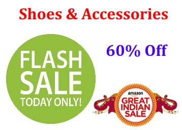 Shoes & Accessories Flash Sale : Everything Flat 60% Off + FREE Shipping discount deal