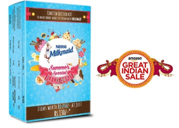 SUMMER LOOT : MILKMAID Ice Cream Kit at Just Rs. 99 + FREE Shipping low price
