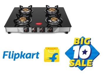 Big10 Sale : Pigeon Ultra Stainless Steel Gas Stove at Just Rs. 2999 + Extra 10% Off + FREE Shipping low price