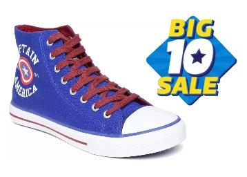 Flat 80% Off : Kook N Keech Sneakers (Blue) at Just Rs. 370 low price