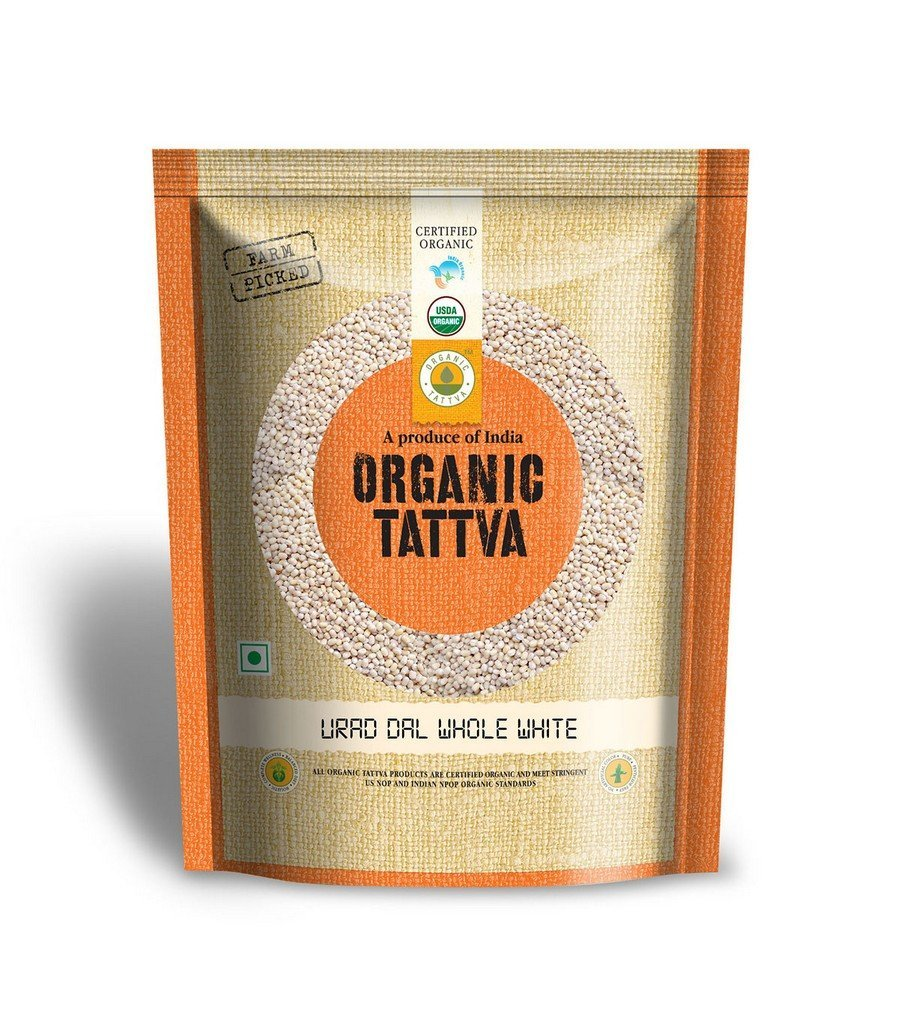 28% Claimed:- Organic Tattva Urad Dal Whole White, 500g At Just Rs. 78 low price