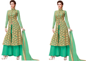 Bumper Price:- MF Retail Georgette Embroidered Salwar Suit Material at Just Rs. 405 + Free Shipping low price