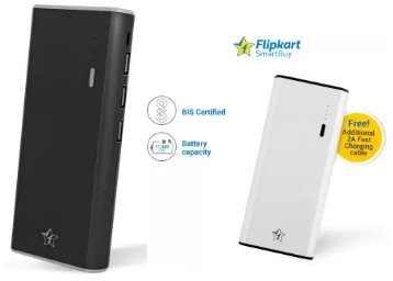 Flipkart SmartBuy 11000 mAh Power bank + FREE 2A Charging cable + Extra 30% Cashback low price
