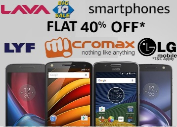 Steal : Get Flat 40% OFF on Budget Smartphones + Extra 30% Cashback discount deal