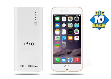 Flat 78% Off On iPro iP40 13000 mAh Power Bank at just Rs.699 + Extra 10% Off low price