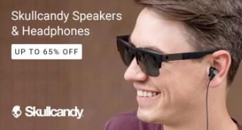 Bumper deal:- Skullcandy Headphones & Speakers Up to 65% OFF + Extra 30% Cashback low price