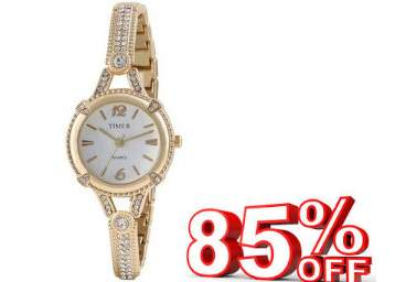 (Steal Deal )Anex Gold Dimond Women Watch at Flat 85% Off low price