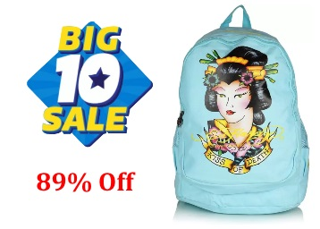 Ed Hardy Kiss of Death 15 L Backpack (Blue) at Flat 89% Off + FREE Shipping low price