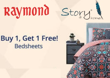 Buy 1 Get 1 Free For Bedsheets (Raymond Story@Home ) low price