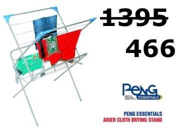 Best Selling:- Peng Essentials Arier Clothes Dryer at Just Rs. 466 + Free Shipping discount deal