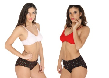 Ten on Ten Women's Bra & Panty Set Flat 78% off Rs. 179 low price