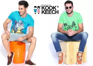 kook n keech Men's Clothing at Minimum 70% Off From Rs. 184 low price