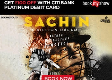 Pre Book Now:- Most Awaited, Sachin: A Billion Dreams, Get Rs. 100 Via JIO Money + More low price
