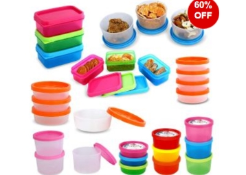 (Steal Deal) Bms Lifestyle Multi-purpose Storage Container Set, 29-pieces at Flat 60% Off low price