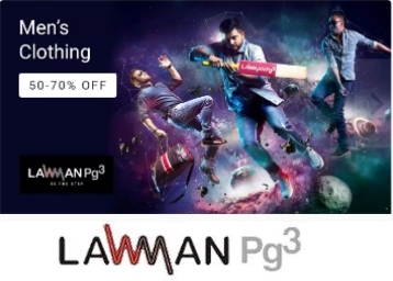 Minimum 50% – 70% off on Lawman Men's Clothing, starts at Rs. 336 + Free Shipping low price