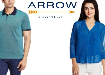 STEAL : Arrow Clothing Flat 65% Off From Rs. 314 + FREE Shipping low price