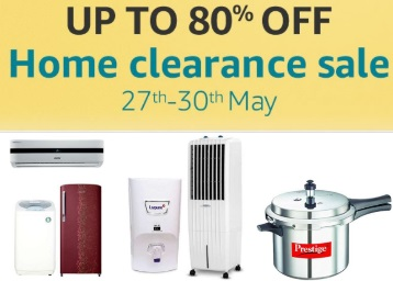 (Day 1) Get Upto 80% Off On Amazon Home Clarence Sale From Rs. 99 discount deal