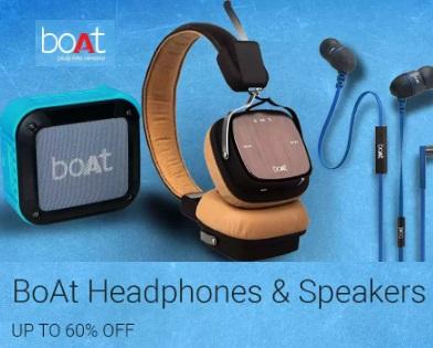 UPto 60% off on BoAT Headphones & Speakers low price