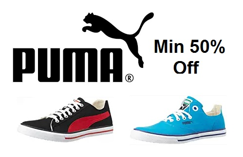 Amazon DOD – Min 50% off on Puma Sneakers, Starts Rs 600 discount deal