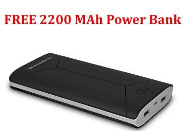 Ambrane 16000 mAh Power Bank (Black) at Rs. 1199 + FREE 2200 MAh Power Bank low price