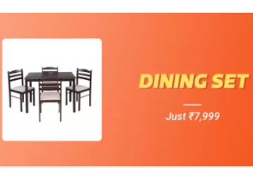Royal Oak Hunter Solid Wood Dining Set at Just Rs. 7999 + 10% Cashback + FREE Shipping low price