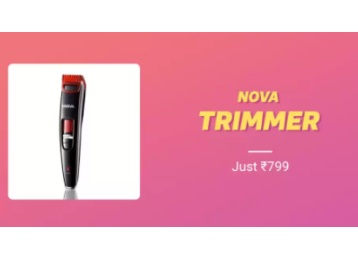 Nova 20 Lock In Length Titanium Coated Trimmer at Just Rs. 599 + FREE Shipping low price