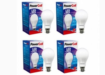 Best Price : Powercell 9W Pack of 4 LED Bulb at FLAT 63% off + 3 More Offers low price
