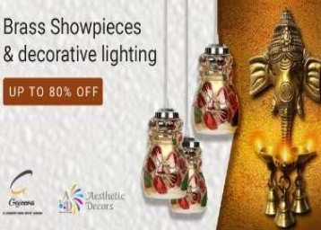 Get Upto 80% OFF Beautiful Showpieces & Decorative Lighting + Extra 25% Cashback low price