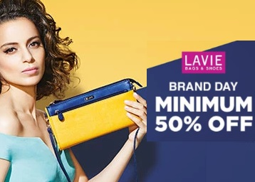 Get Lavie bags & Shoes at Minimum 50% Off discount deal