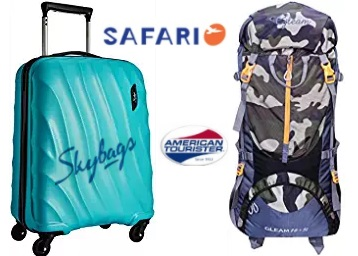 STEAL PRICE : Travel Bags & Luggage 50% off + Extra 20% Cashback from Rs. 319 low price