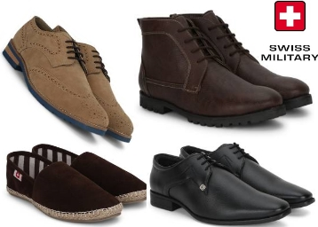 Limited Stocks:- Swiss Military Shoes at Min. 50% to 70% off + Extra 20% Cashback low price