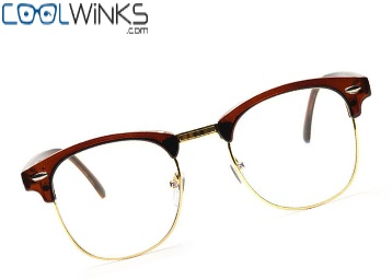 Graviate Brown Full Frame Clubmaster Eyeglasses for Unisex at Flat 99% Off discount deal