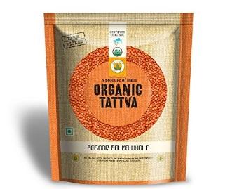 4.5* Rating:- Organic Tattva Masoor Malka Whole, 500g at Just Rs. 59 + Free Shipping low price