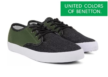 Steal Deal – Get United Colors of Benetton Men Sneakers at just Rs.713 + Extra 20% Cashback discount deal