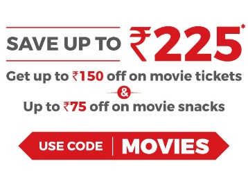 BookMyShow Blockbuster Weekend : Save Up to Rs. 225 On Movies & Snacks low price