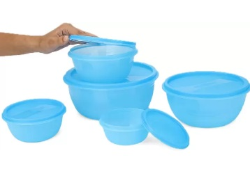 Princeware Plastic Multi-purpose Storage Container (Pack of 5) at Just Rs. 99 low price