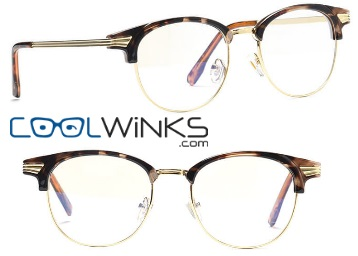 Graviate Tortoise Full Frame Clubmaster Eyeglasses at Just Rs. 11 (Pay for Lenses) discount deal