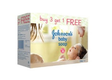 Get Johnson's Baby Soap 150g Pack of 4 Rs. 177 + FREE shipping low price