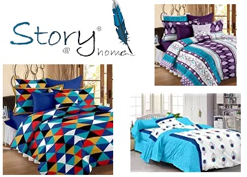 Get Min. 50% Off on Story@Home Bedsheets | Starts at Rs. 299 + Free Shipping low price