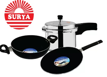 Steal : Get Surya Accent Combo Cookware Set (Aluminium, 3 – Piece) at just Rs.899 + FREE shipping low price