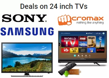 Deals on 24 inch TVs:- Sony, Samsung, Philips & More, starts at Rs. 8999 + Exchange Offers discount deal