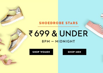 SHOE Drobe Stars:- All Footwear's Range Under Rs. 699 + Free Shipping low price