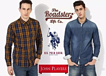 Get Upto 70% OFF On Men's Branded Casual Shirts Under Rs.999 low price