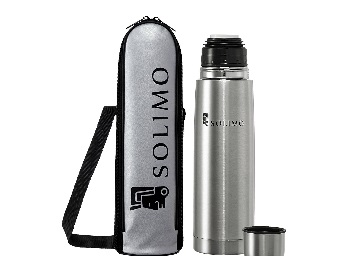 (50% Claimed) Get Solimo Stainless Steel Flask, 500ml at just Rs.379 low price