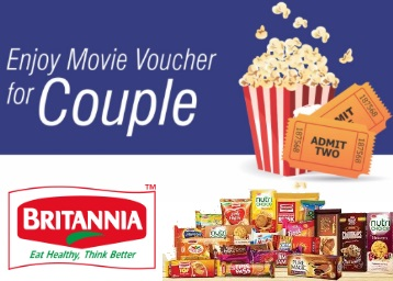Grab Now:- FREE Rs.100 Movie Voucher WITH Any 2 Packs Of Britannia Product low price