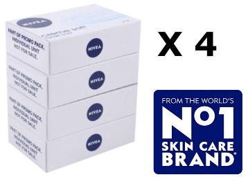STEAL : Nivea Creme Soft creme Soap ,125gm (Pack of 4) at Rs. 130 + FREE Shipping low price