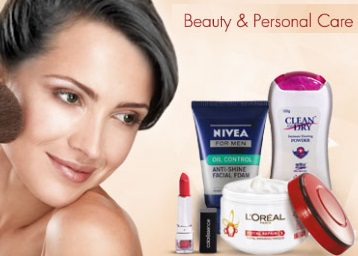 Beauty & Personal Care minimum 20% off + 15% Cashback from Rs. 47 discount deal